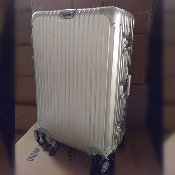 21 INCH 212529# All metal rod box aluminum magnesium alloy luggage suitcase #EC FREE SHIPPING
