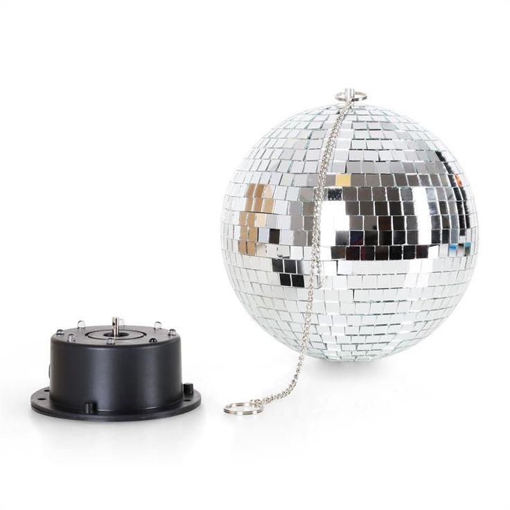 Bola de Espejos para discoteca con LEDS #discoteca #verano #fiesta #noche #diversion #iluminacion #decoracion