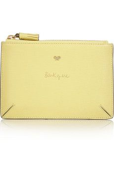 Anya Hindmarch Bank Of Me textured-leather pouch | NET-A-PORTER