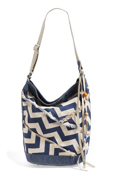 TOMS Chevron Print Canvas Bucket Bag available at #Nordstrom