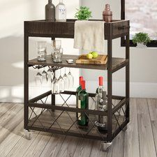 Rustic Bar Cart - Wayfair