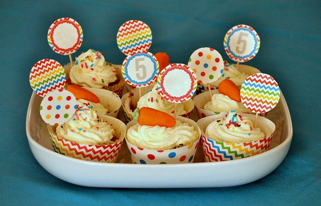 Carrot cupcakes by boldcolorglass, via Flickr