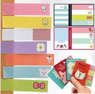 Freeshipping! New Cute  cartoon animals Notepad / colorful Memo / Writing scratch book / sticky note pad /