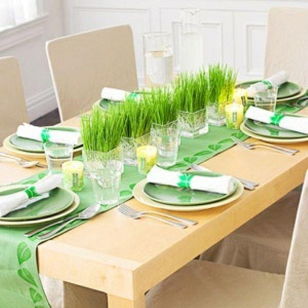 tisch grün gras deko