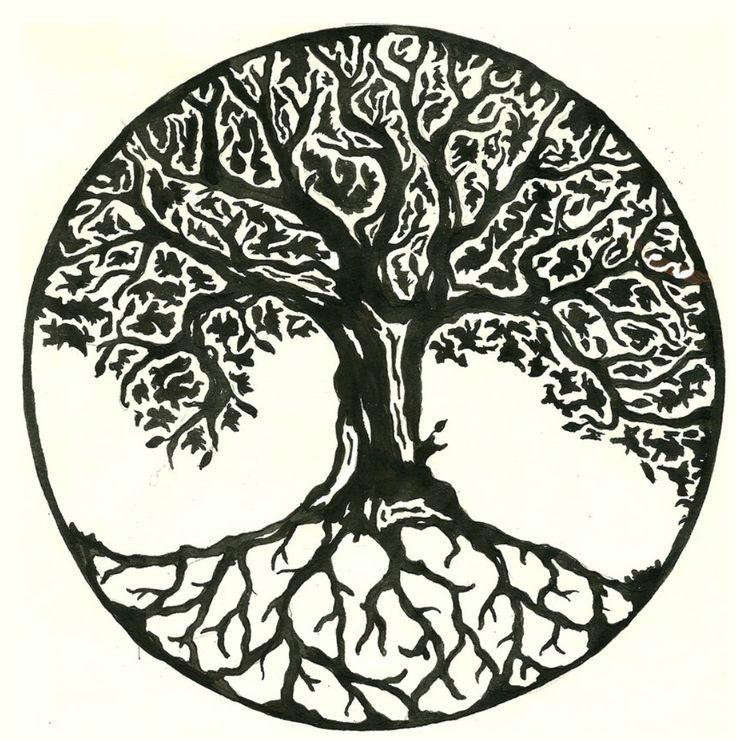 Árbol de la vida redondo
