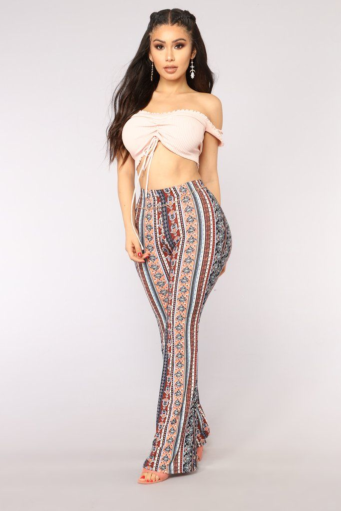 4b8a20692134e Hamsa Print Flare Pants - Multi in 2019