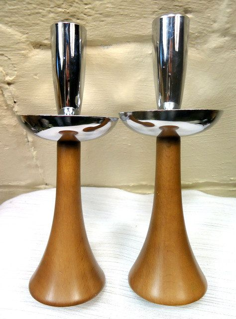 Mid Century Modern Candle Holders Dansk/Danish Mod by CherryBerryVintage on Etsy