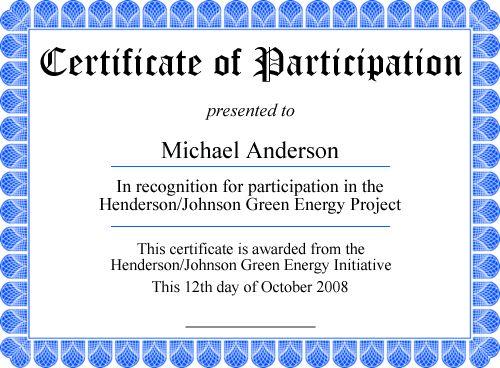 Free Printable Certificates