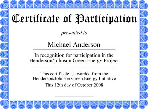 25 Best Ideas about Free Printable Certificates – Sample Certificate of Participation