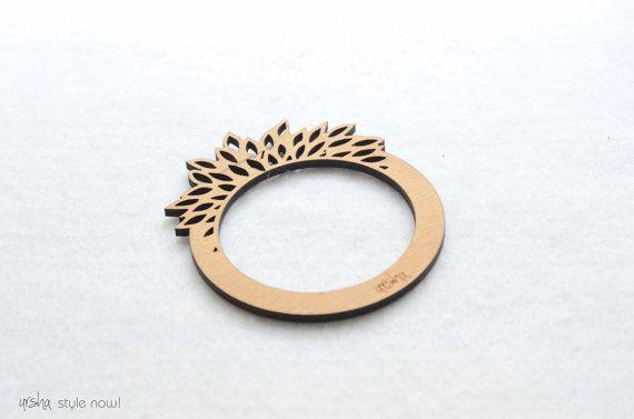 Bloom wooden bangle bracelet  BIO colleciton by ursha www.facebook.com/urshastylenow