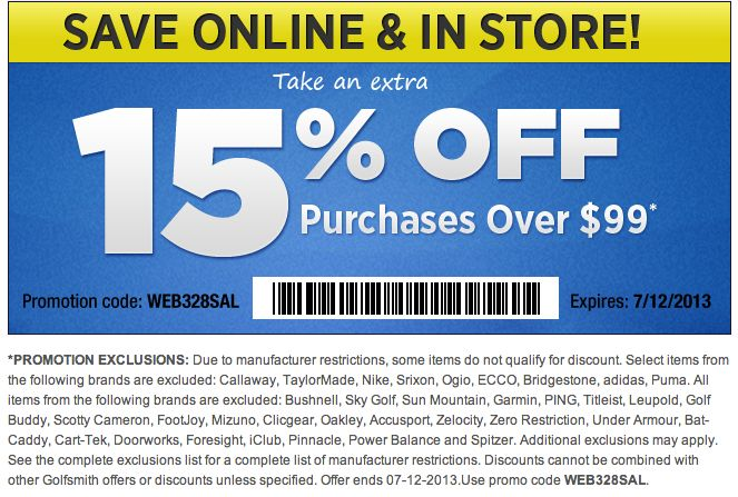 photo regarding Golf Smith Printable Coupon identified as Coupon golfsmith - Momma promotions