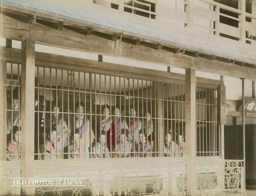 Tokyo 1890s • Prostitutes in Cage Share this