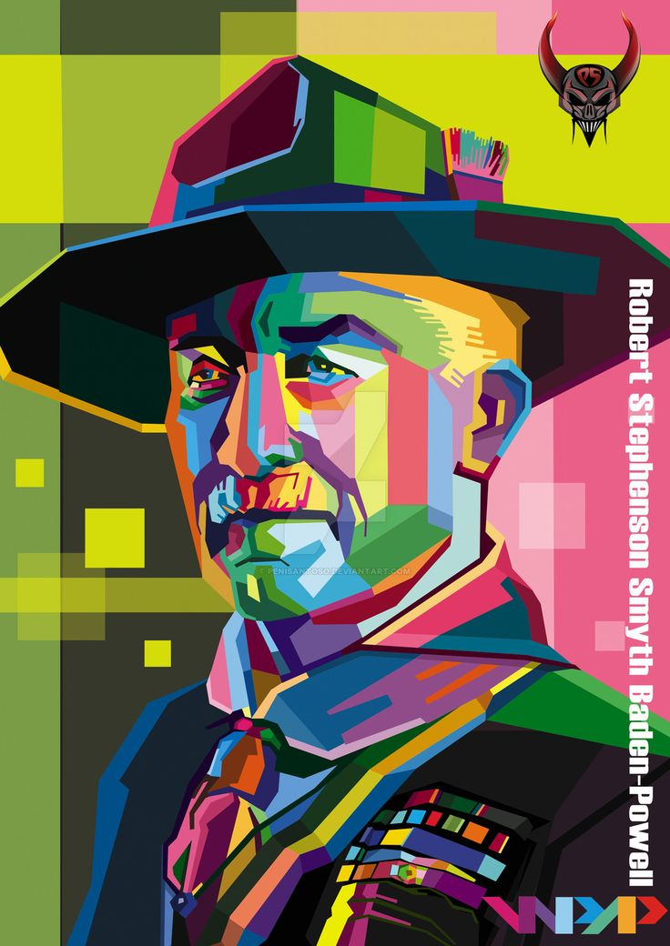 stylized Baden-Powell portrait