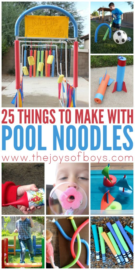 Pool noodles aren't just for the pools!  I love these ideas of things to make with pool noodles