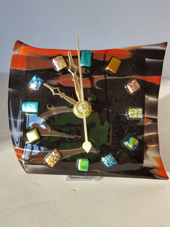 Check out this item in my Etsy shop https://www.etsy.com/listing/491318683/fused-glass-clock-desktop-clock-mantel