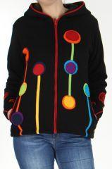 Manteau court pour femme doublé Polaire Ethnique et Coloré Etna fait partie de la nouvelle collection de chez www.akoustik-online.com.
