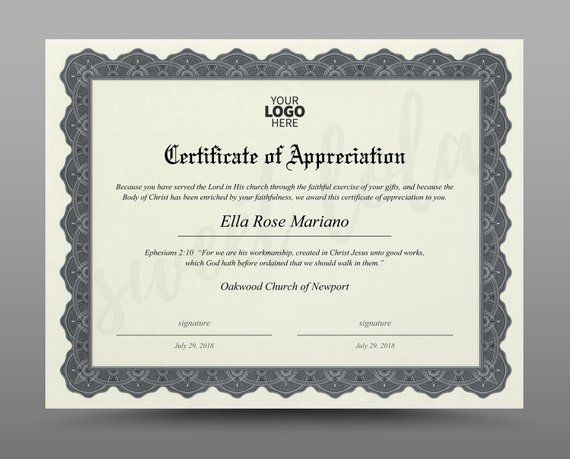certificate template instant download diploma template editable