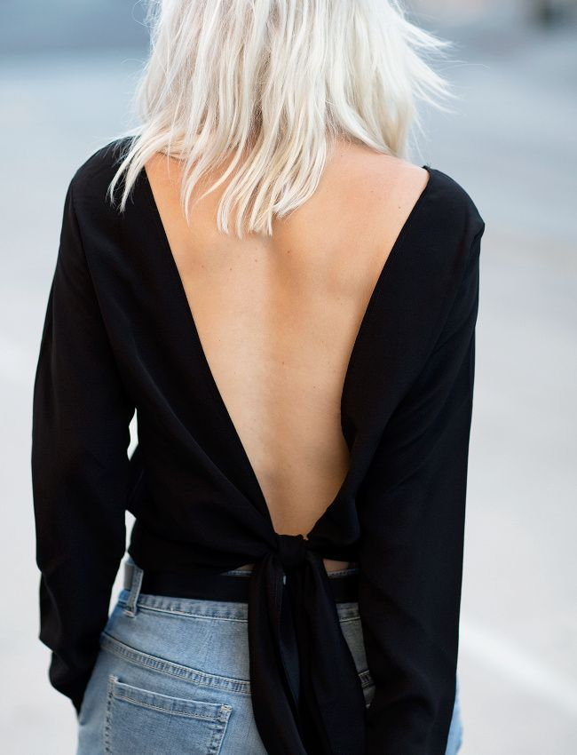 Street Style haut noir