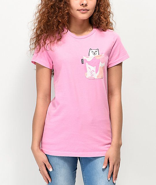 c5cebc13e1d77b RIPNDIP Lord Nermal Pink Camo Pocket T-Shirt in 2019 | T-shirts ...