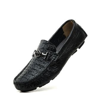 Summer Genuine Leather Driving Mocassin Masculino Men Designer Loafers Size 35 to 45 46 47 48 49 50 Black Blue Light Brown