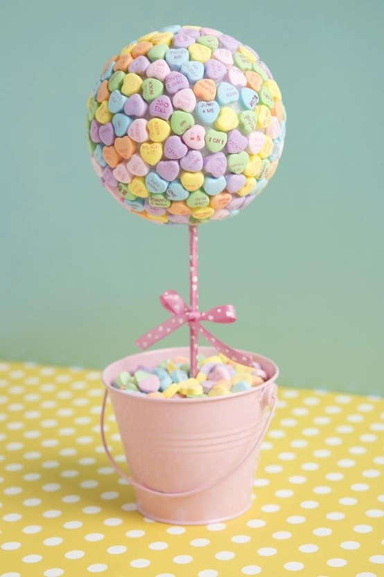#DIY - I Love You Candy Topiary