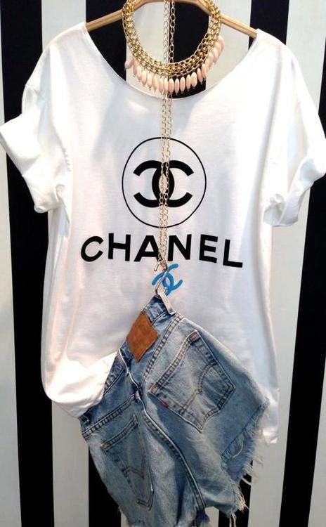 chanel logo tshirt coco homme femme n5 tumblr unisex by. Black Bedroom Furniture Sets. Home Design Ideas