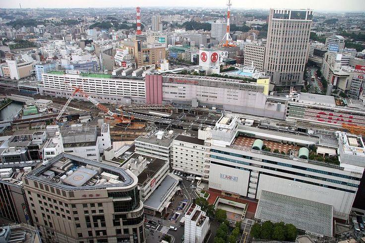 横浜駅、東口側からの俯瞰。