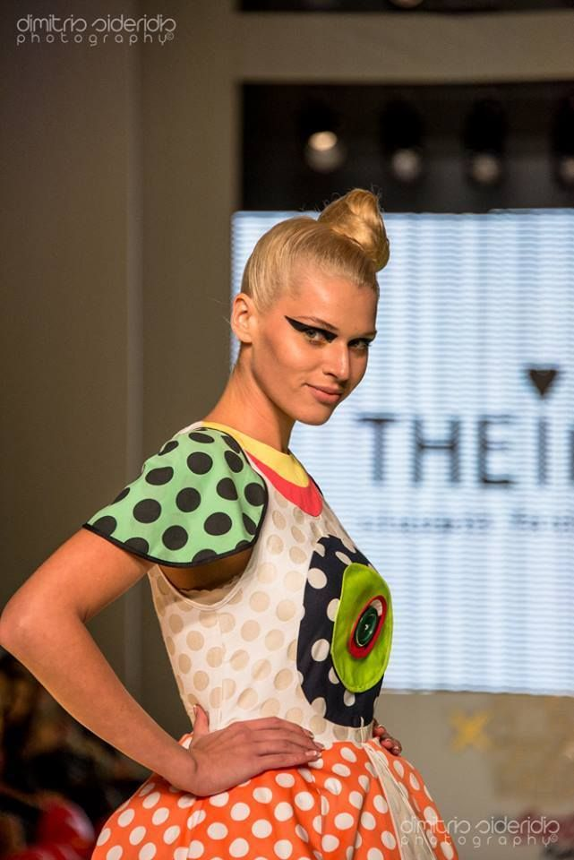 Athens Fashion Week! Close up! Dots Dress for the POP ART Project! Participating with THEIAlab!
