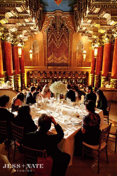 fox theatre detroit wedding reception design/planning: VLD events photo credit: jess + nate studios