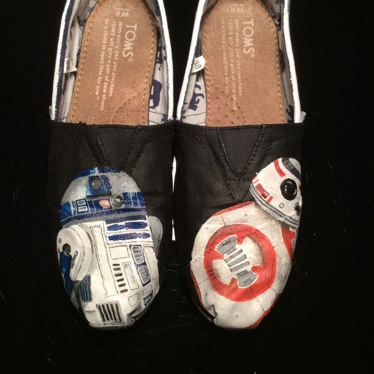 A personal favorite from my Etsy shop https://www.etsy.com/ca/listing/267064395/star-wars-inspired-custom-painted-shoes