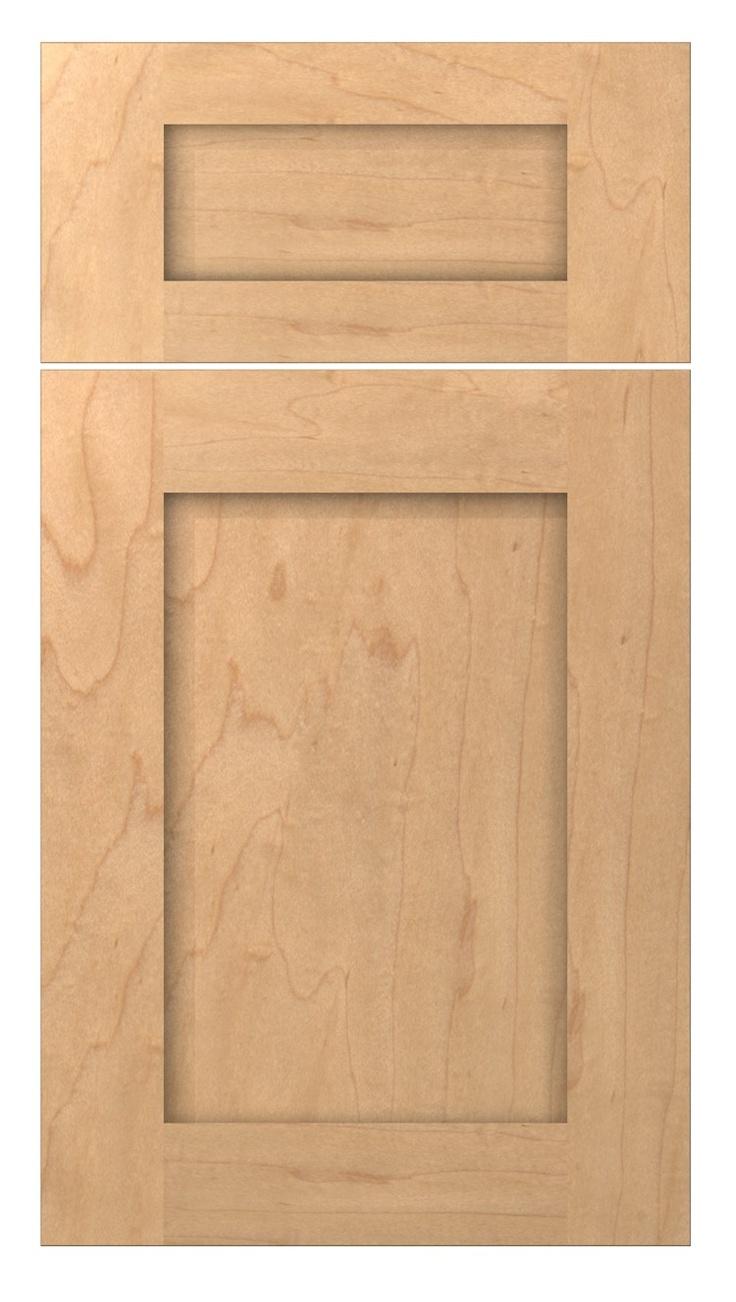 Maple Wood Shaker Door Style Sesame Finish Kitchen