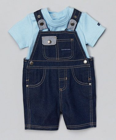 Loving this Blue Tee & Overalls - Infant on #zulily! #zulilyfinds