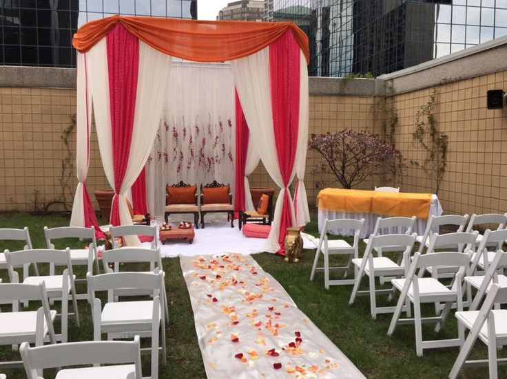 31 best mendhi wedding decor images on pinterest wedding decor asha ashishs outdoor wedding maandap at delta hotel ottawas outdoor rooftop terrance planner junglespirit Gallery