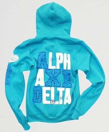 Alpha Xi Delta Neon Blue Hoodie
