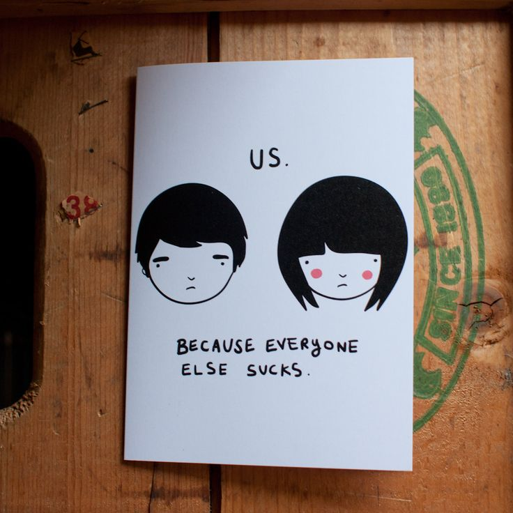 Us card (Girl + Boy)