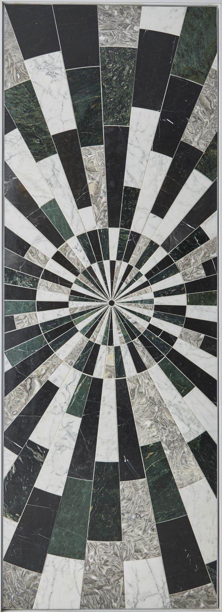 KELLY WEARSTLER X ANN SACKS. 'Liaison Palm' stone patterned tiles