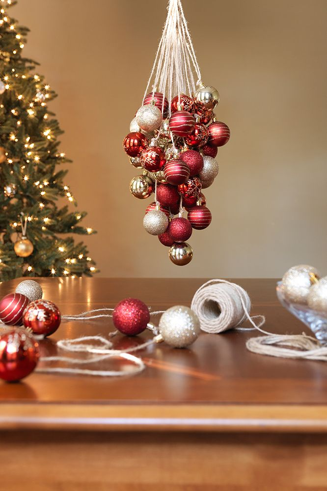 If You Know How To Tie Your Shoe Then Already Make A Christmas Ornament Chandelier All Need Are Three Simple Products From Home Depot