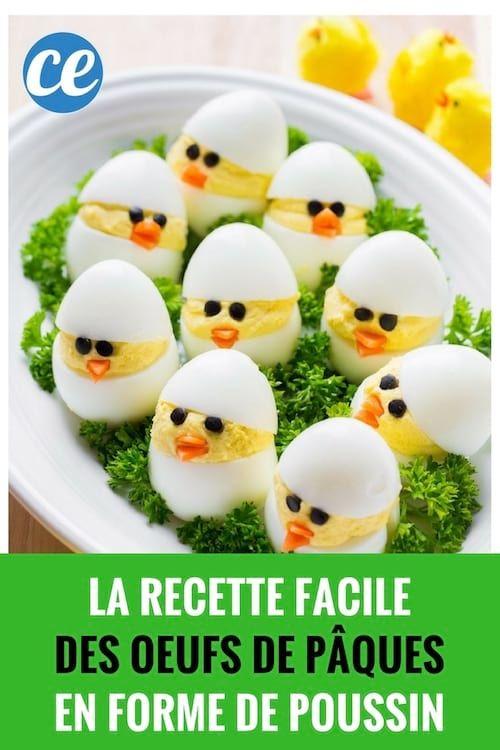 Facile Et Pas Chère : La Recette des Oeufs de Pâques En Forme de Poussin