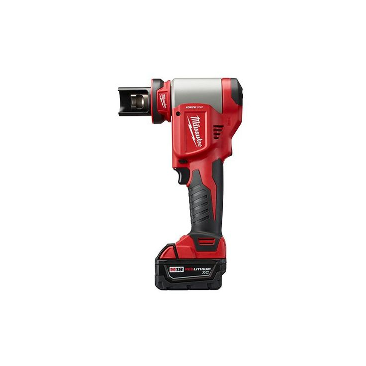 "Milwaukee 2676-23 FORCELOGIC M18 10 Ton Knockout Tool 1/2"" to 4"" Kit Hand Tools Electrical Tools Knockout Punch Kits"