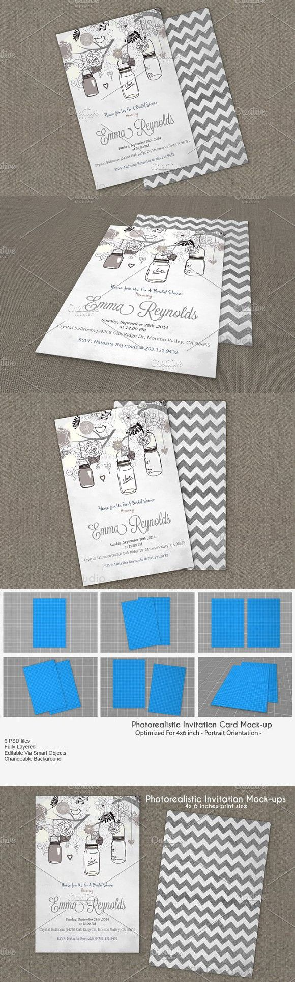 4x6 Inches Invitation Card Mockup V2 Business Card Mock Up Invitation Cards Invitation Mockup