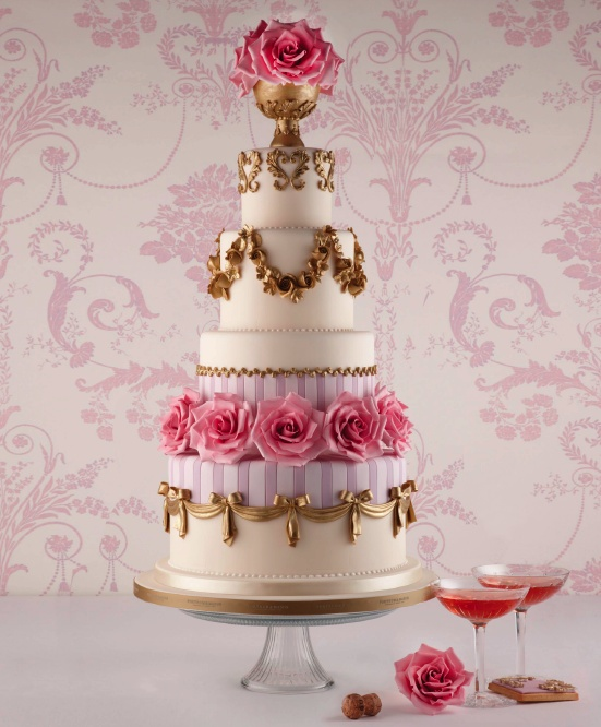 """Georgian Porcelain"" wedding cake by Fortnum and Mason"