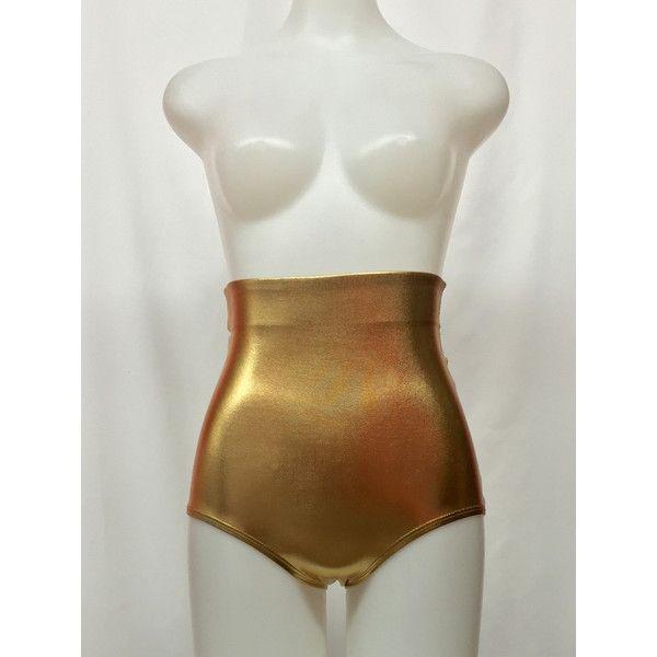 Women's Metallic Gold High Waisted Shorts Metallic Gold Shorts Gold... ($20) ❤ liked on Polyvore featuring shorts, grey, women's clothing, high-rise shorts, high rise shorts, high-waisted shorts, gold shorts and grey shorts