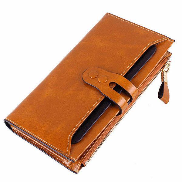 Hot-sale Women Elegant Long Wallet Ladies Vintage Casual Zipper Large Capacity Purse - NewChic