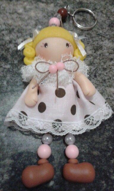Chaveiro bonequinha fofa