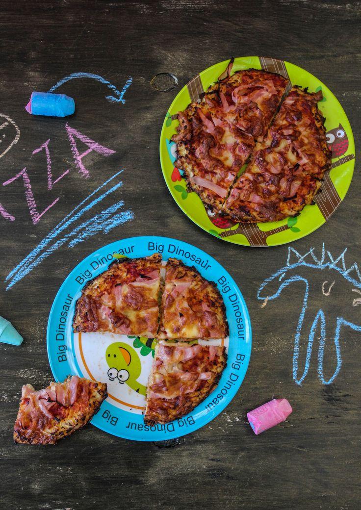 Ham and Cheese Cauliflower Pizza