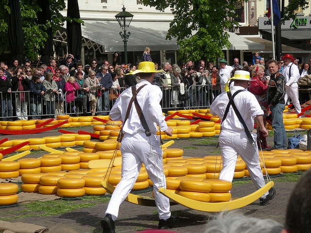 Kaasmarkt in Alkmaar, the Netherlands (The cheese market).