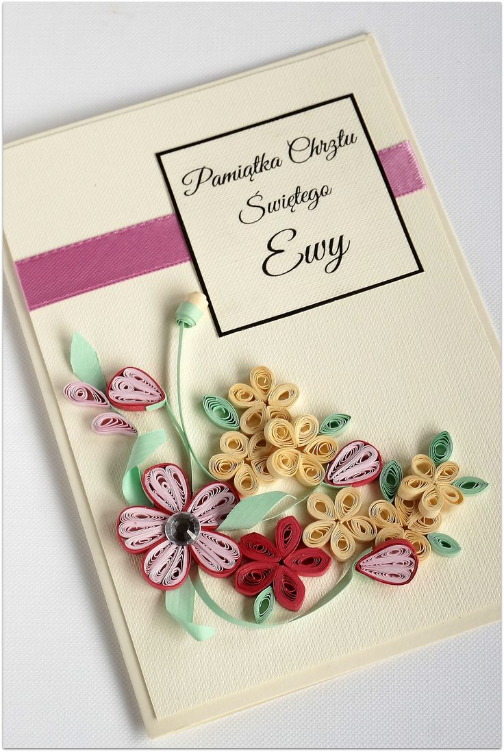 christening day card quilling