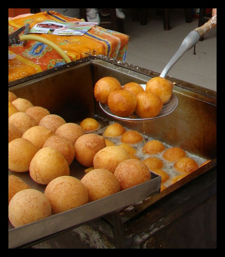 Buñuelos! these soft balls of cheese bread, are uniquely Colombian.