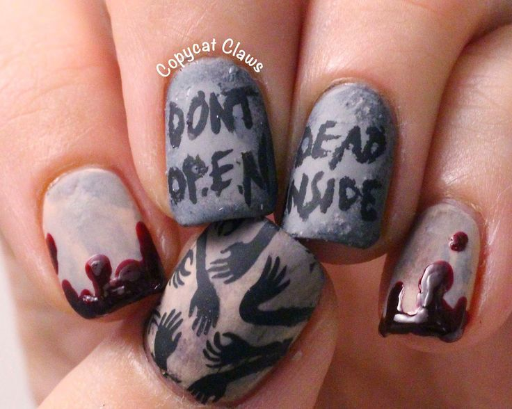 Copycat Claws: Walking Dead Nails