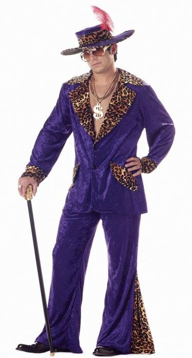 Be the biggest playa at your next fancy dress party, or at least look like one with this cool costume. Find it now at http://www.heavencostumes.com.au/playa-pimp-men-s-purple-mac-daddy-costume.html